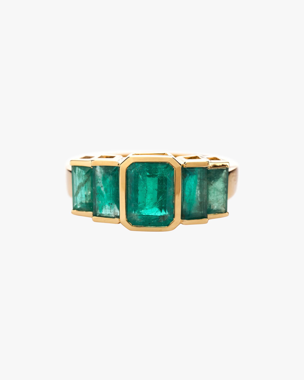 Yi Collection Emerald Tonal Deco Ring 0