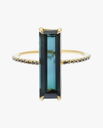Yi Collection Indicolite & Black Diamond Ring 1