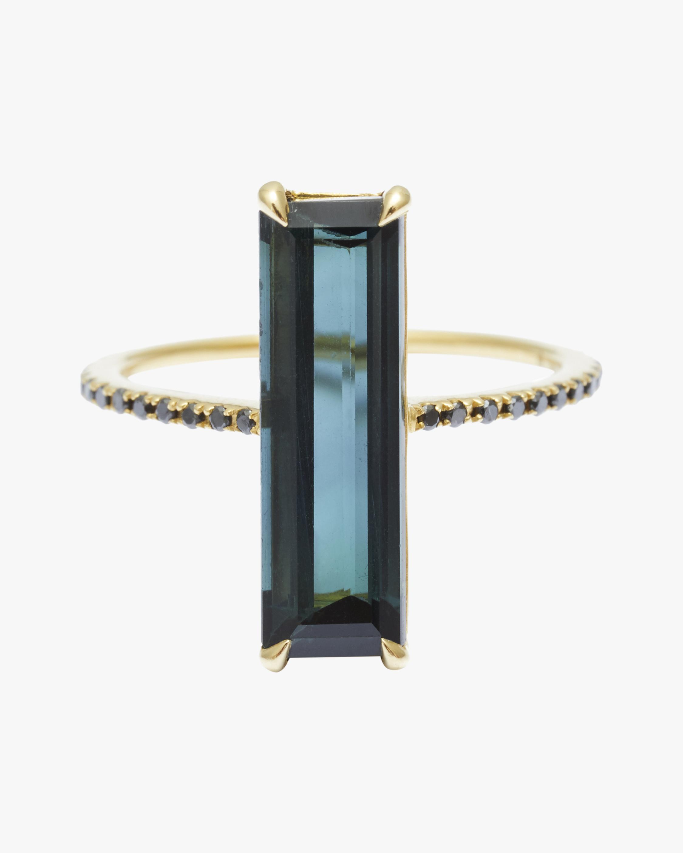 Yi Collection Indicolite & Black Diamond Ring 0