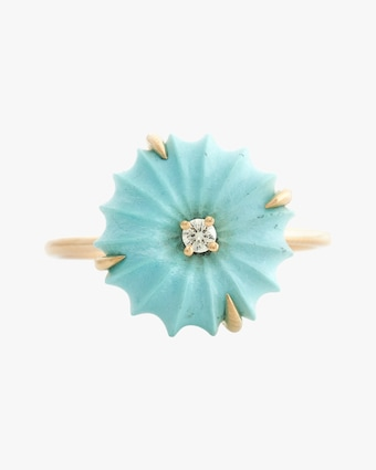 Yi Collection Turquoise & Diamond Flora Ring 2