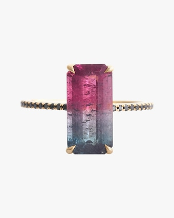 Yi Collection One-of-a-Kind Watermelon Tourmaline Protection Ring 2