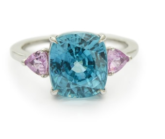 Yi Collection One-of-a-Kind Zircon & Pink Sapphire Ocean Ring 1