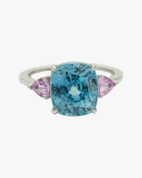 Yi Collection One-of-a-Kind Zircon & Pink Sapphire Ocean Ring 0