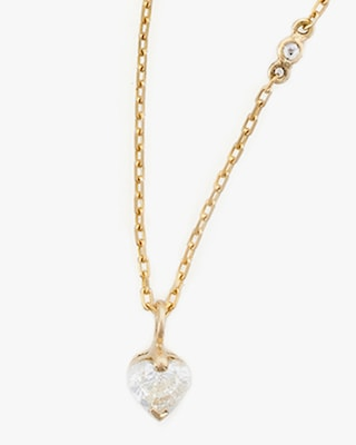 Yi Collection Diamond Heart Necklace 2