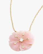 Yi Collection Pink Opal & Diamond Necklace 1