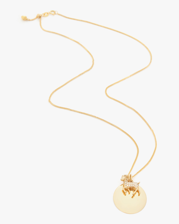 Yi Collection Chinese Zodiac Goat Pendant Necklace 1