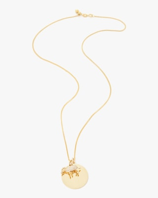 Yi Collection Chinese Zodiac Ox Pendant Necklace 1