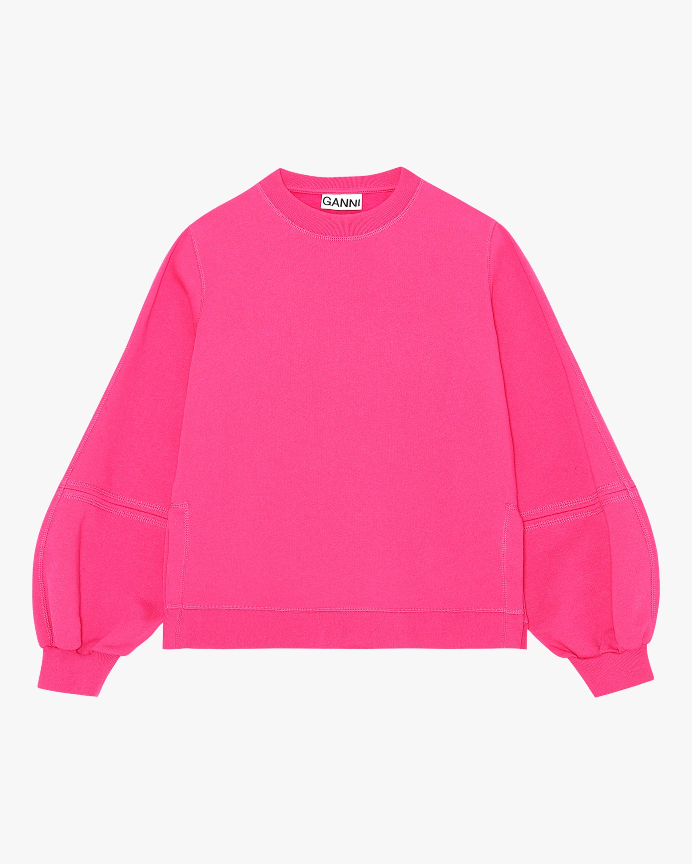 Ganni Puff Sleeve Sweatshirt 2