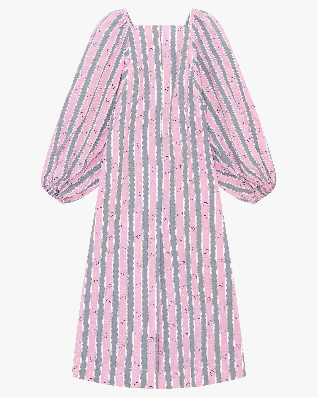 Ganni Puffed-Sleeve Maxi Dress 0