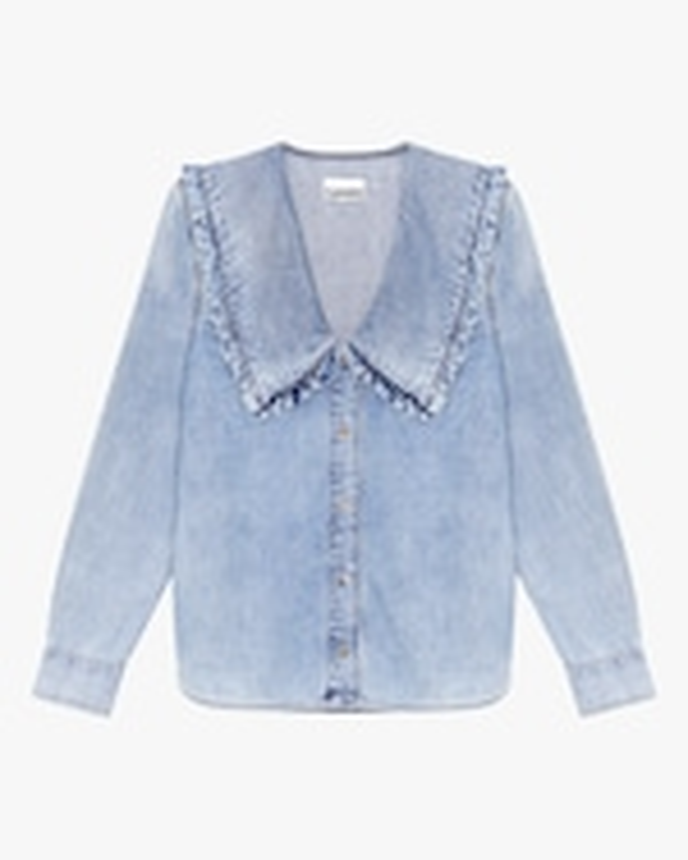 Ganni Denim Button-Up Shirt 0
