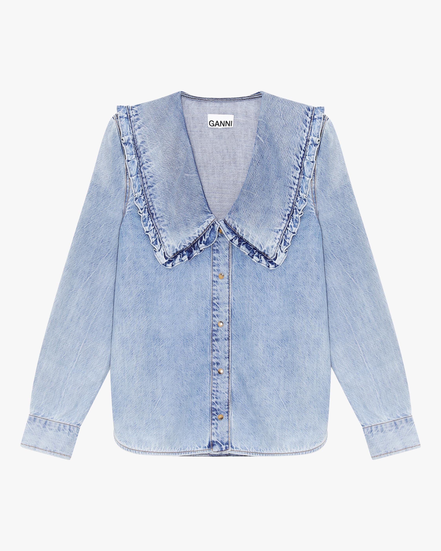 Ganni Denim Button-Up Shirt 2