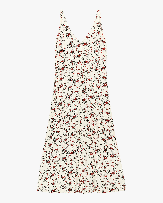 Ganni V-Neck Shift Dress 0