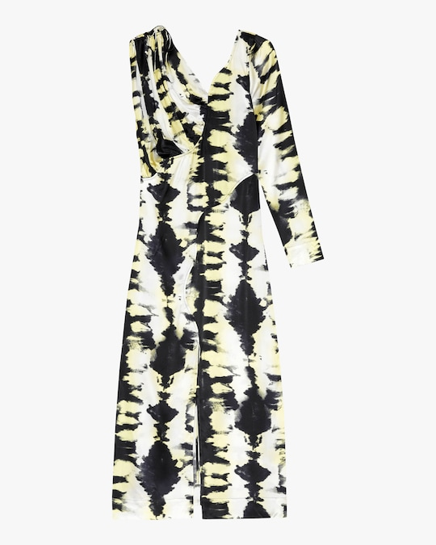 Ganni Asymmetrical-Sleeve Dress 0