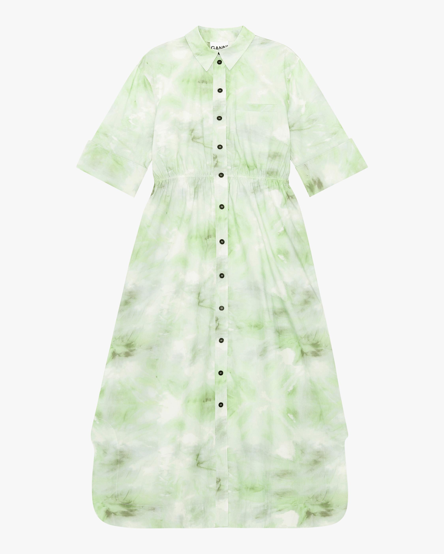 Ganni Tie-Dye Shirt Dress 0