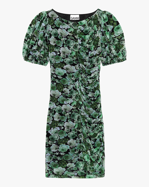 Ganni Ruched Mini Dress 0