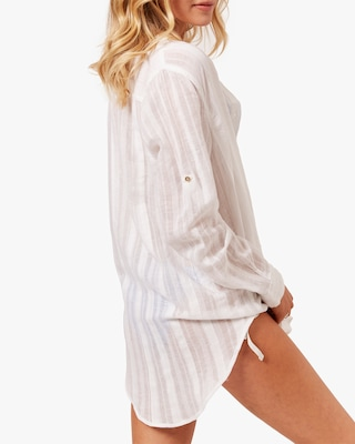 Solid & Striped The Pleated Oxford Tunic 2