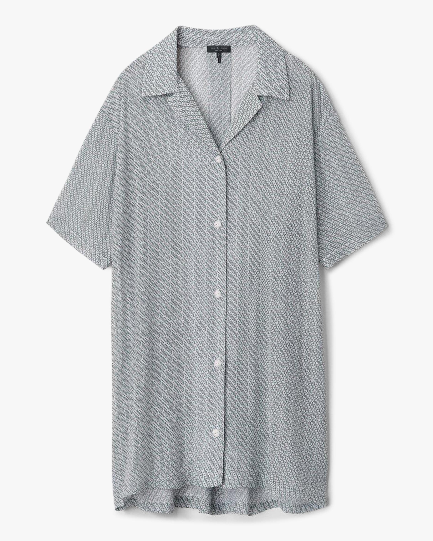 rag & bone Reed Printed Shirt Dress 0