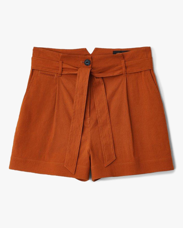 rag & bone River Linen Shorts 0