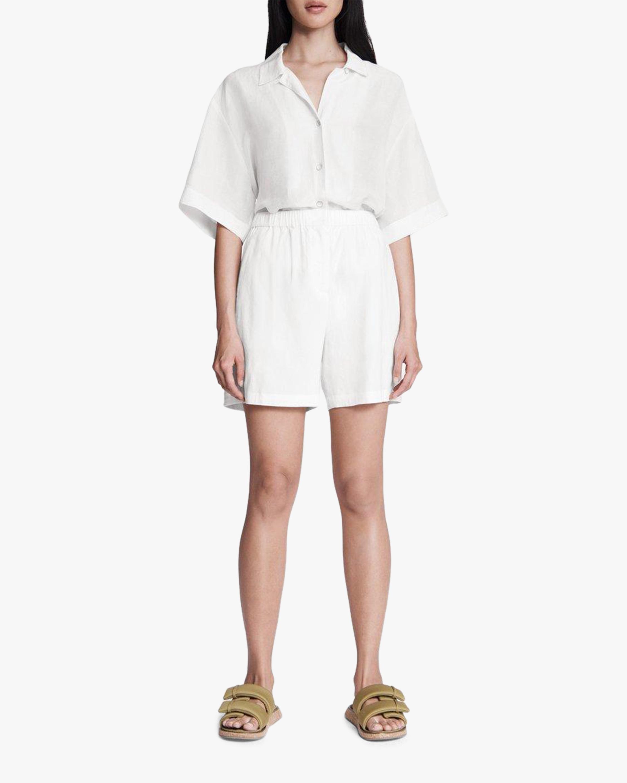 rag & bone Maye Linen Shorts 1