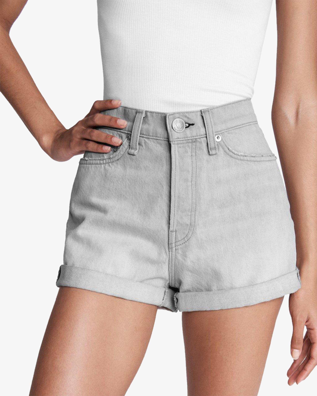 rag & bone Maya High-Rise Shorty Shorts 4