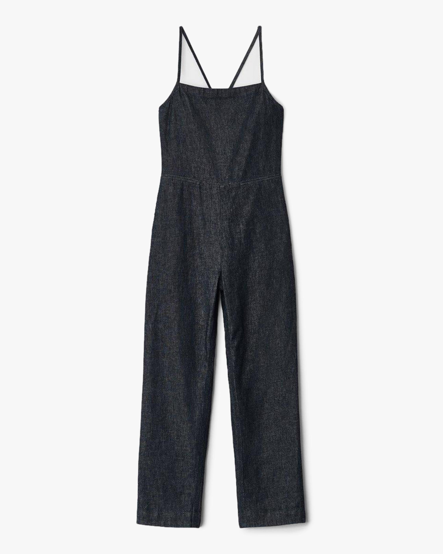 rag & bone Denim Tie Jumpsuit 0