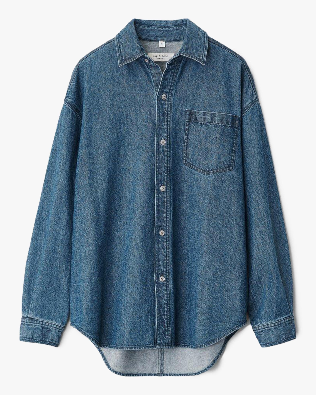 rag & bone Oversized Button-Up Shirt 0