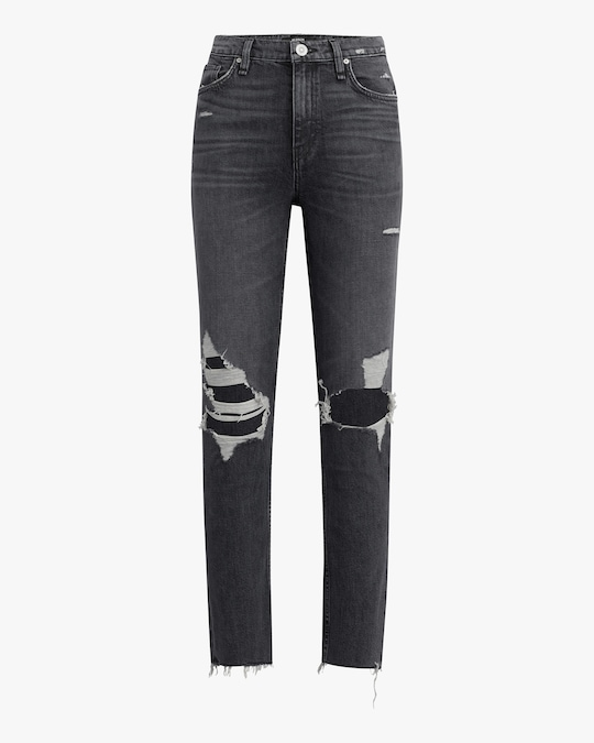 Hudson Holly High-Rise Straight Jeans 0