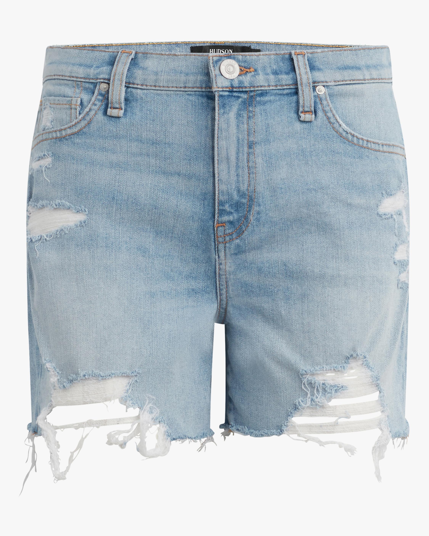 Hudson Devon High-Rise Denim Bike Shorts 1