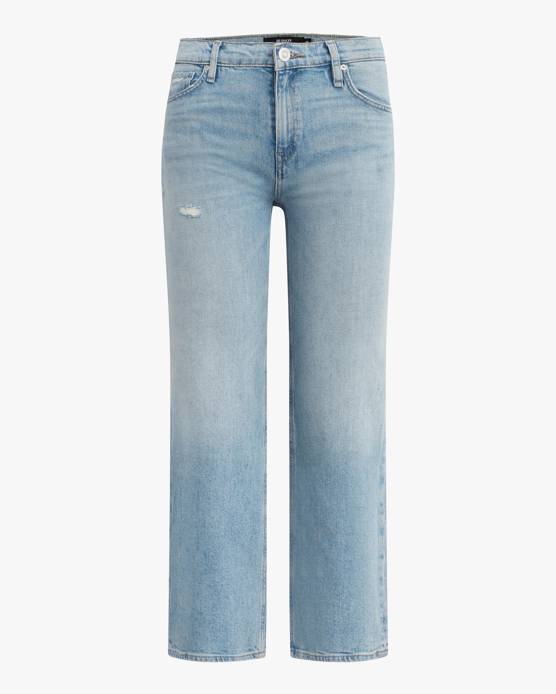 Hudson Rose High-Rise Wide Leg Crop Jeans 0