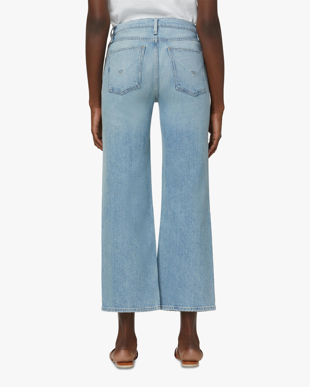 Hudson Rose High-Rise Wide Leg Crop Jeans 4