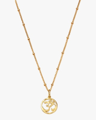 With Love Darling Om Pendant Necklace 1