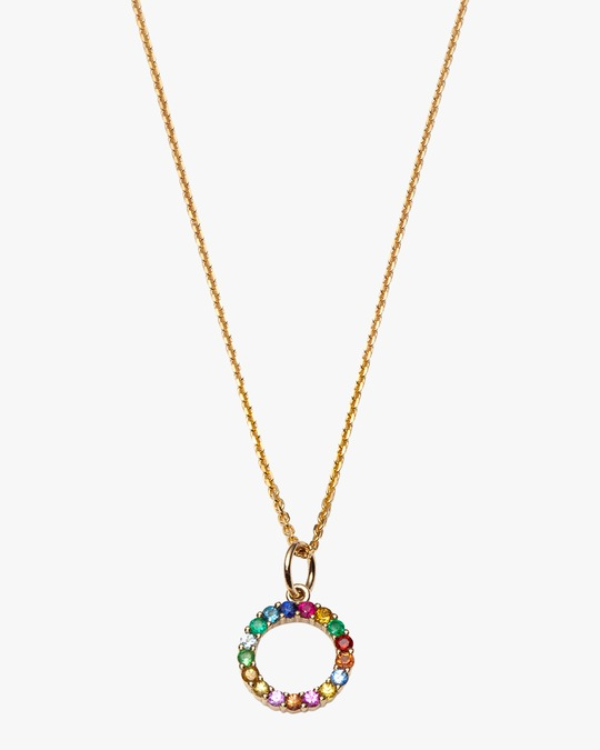 With Love Darling Partnership Circle Pendant Necklace 0