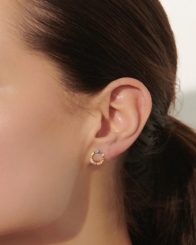 With Love Darling Partnership Circle Earrings 1
