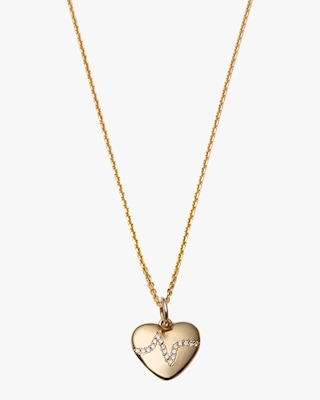 With Love Darling Heartbeat Pendant Necklace 1