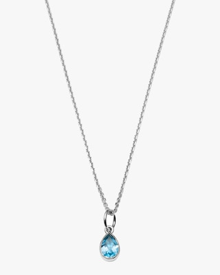 With Love Darling Water Droplet Pendant Necklace 1