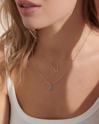 With Love Darling Water Droplet Pendant Necklace 2