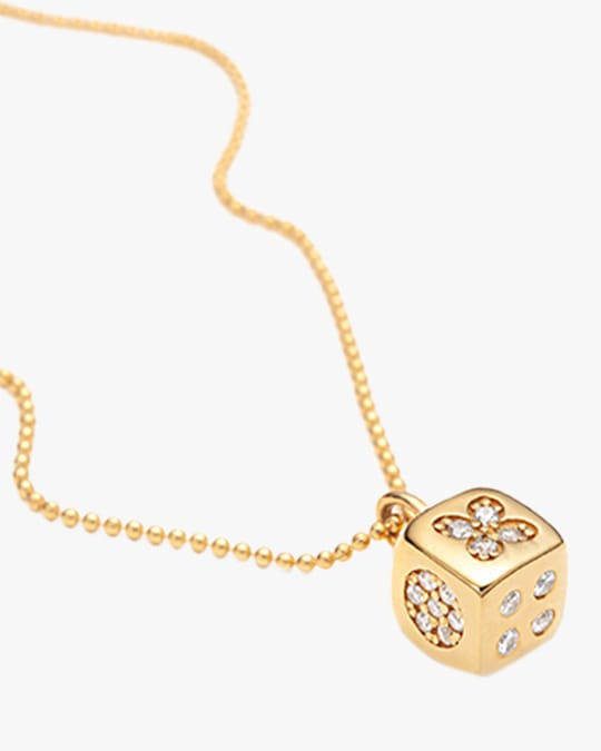 With Love Darling Dice Pendant Necklace 0