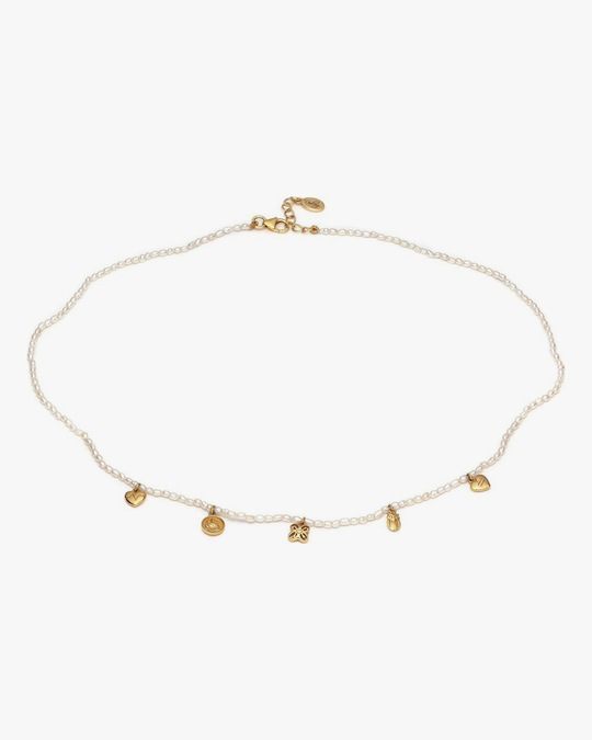 With Love Darling Pearl Beaded Charm Necklace 0