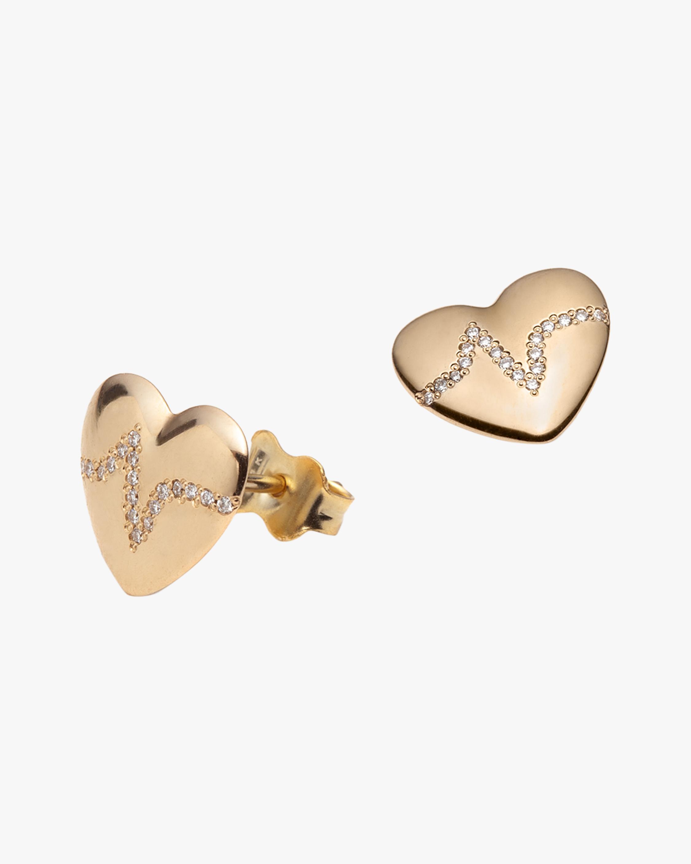 With Love Darling Heartbeat Stud Earrings 0