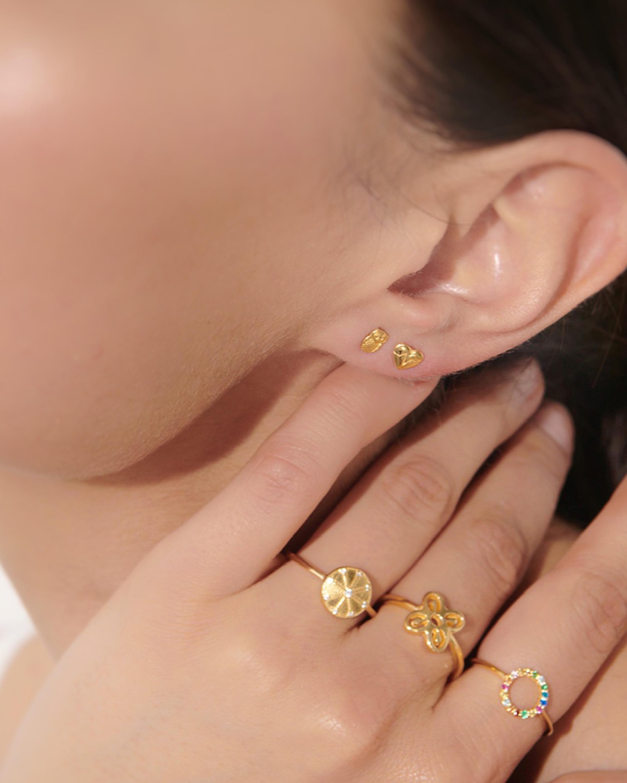 With Love Darling Heartbeat Stud Earrings 1