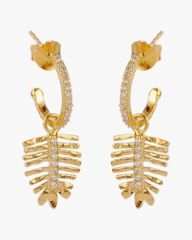With Love Darling Tulsi Leaf Open Hoop Earrings 0