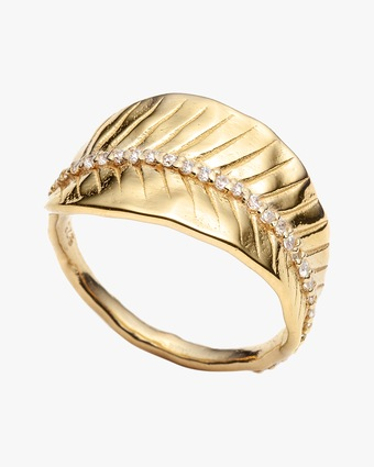 With Love Darling Ashok Leaf Ring 1