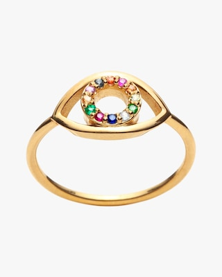 With Love Darling Multicolor Eye Ring 1