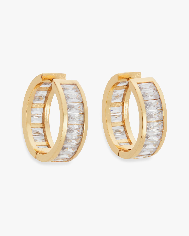 With Love Darling Emerald-Cut Hoop Earrings 0