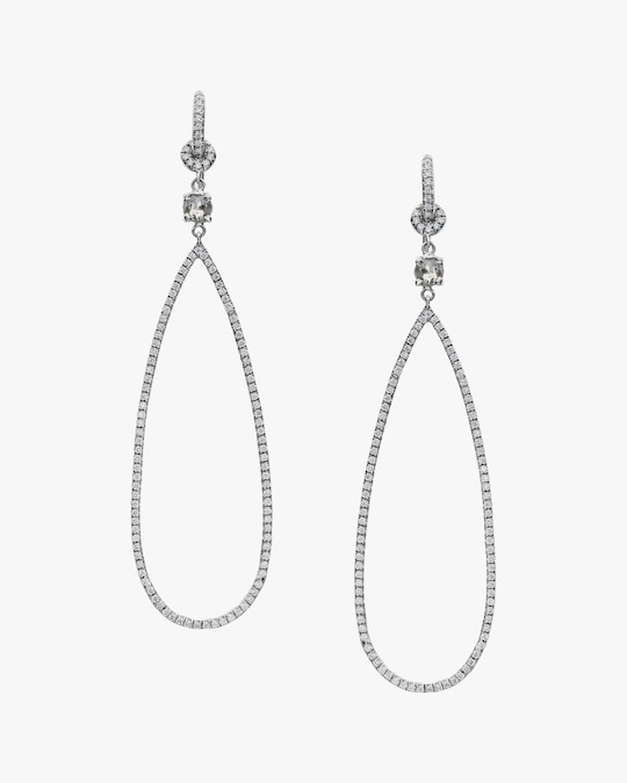 Nina Runsdorf Diamond Oval Earrings 0