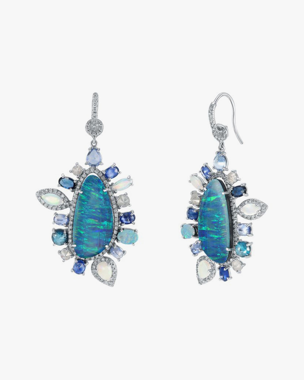 Nina Runsdorf Australian Opal & Blue Sapphire Drop Earrings 2