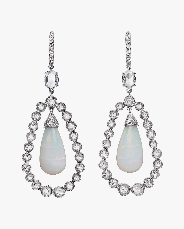 Nina Runsdorf Rosecut Diamond & Opal Drop Earrings 2