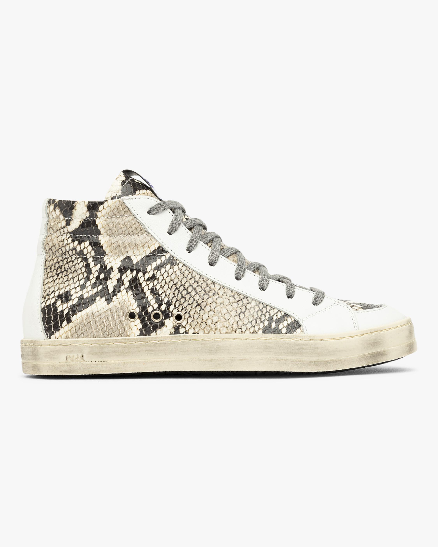 P448 Skate White Python Sneaker 1