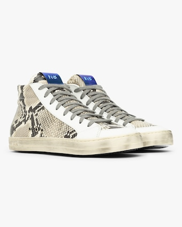 P448 Skate White Python Sneaker 2