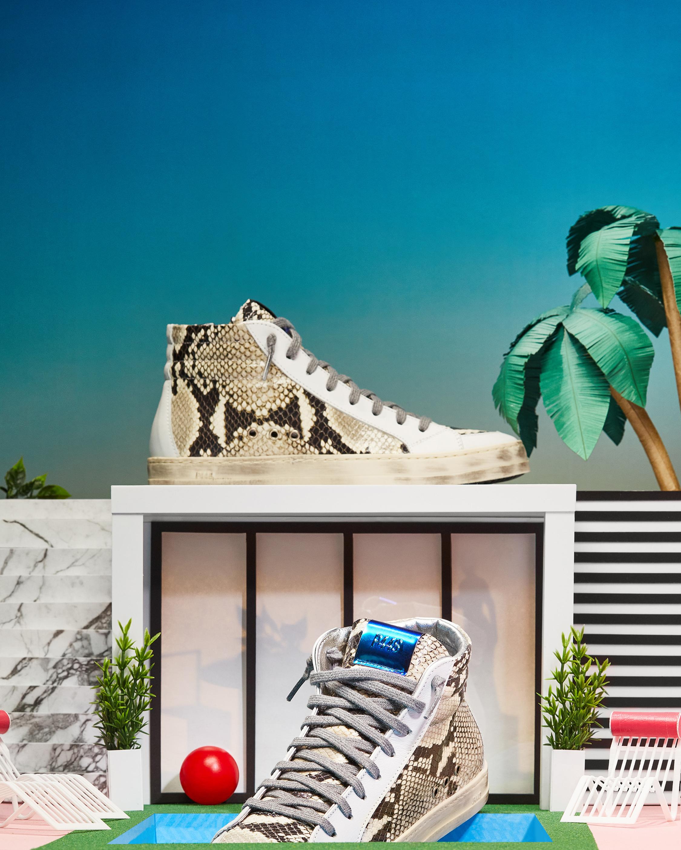 P448 Skate White Python Sneaker 5